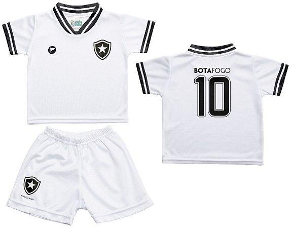 37c2b5f090 Conjunto Botafogo Uniforme Infantil Branco - Torcida Baby - Cia ...