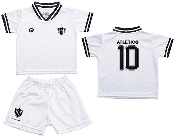 Conjunto Atlético MG Uniforme Infantil Branco - Torcida Baby