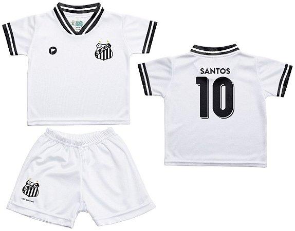 5a3277eb491cc Conjunto Santos Uniforme Infantil Branco - Torcida Baby - Cia Bebê ...