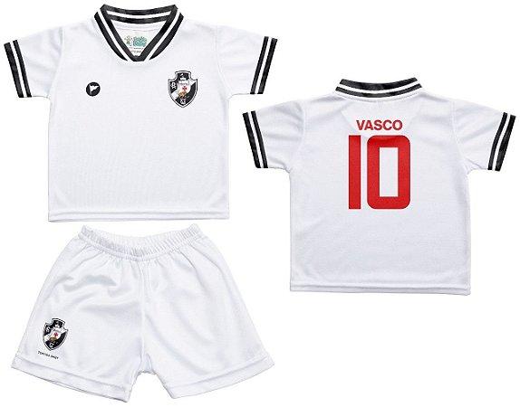 Conjunto Bebê Vasco Uniforme Branco - Torcida Baby
