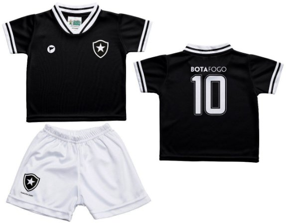 Conjunto Bebê Botafogo Uniforme Preto - Torcida Baby