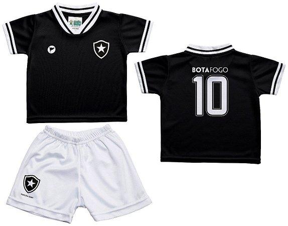 94e5d39bef Conjunto Infantil Botafogo Uniforme Preto - Torcida Baby