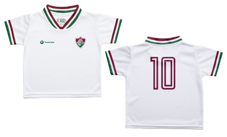 Camiseta Infantil Fluminense Branca - Torcida Baby