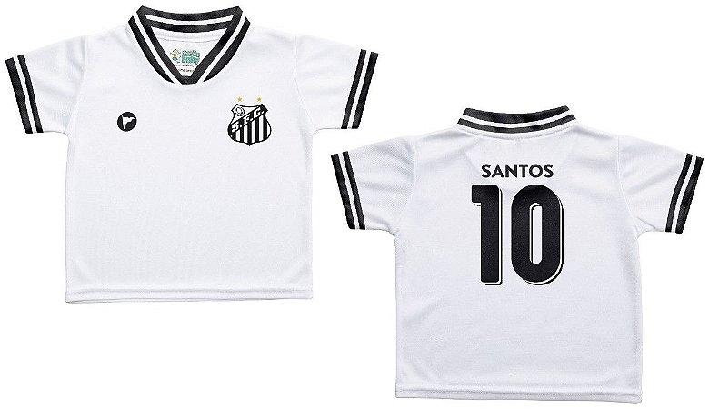 Camiseta Infantil Santos Branca - Torcida Baby