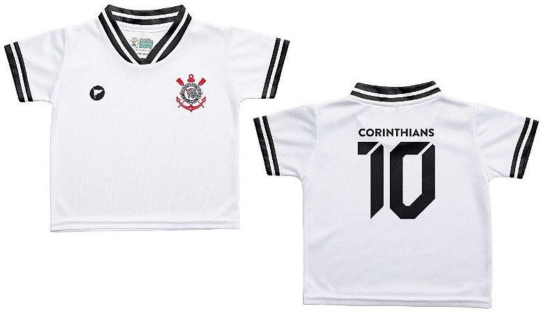67d04e9b25dbc Camiseta Bebê Corinthians Branca - Torcida Baby - Cia Bebê ...