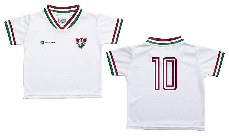 Camiseta Bebê Fluminense Branca - Torcida Baby