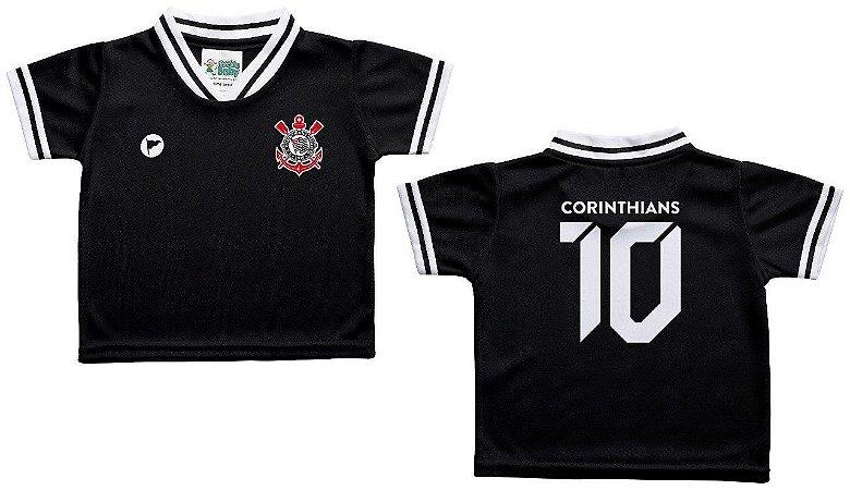 6fb1d77f4bb09 Camiseta Infantil Corinthians Preta - Torcida Baby - Cia Bebê ...