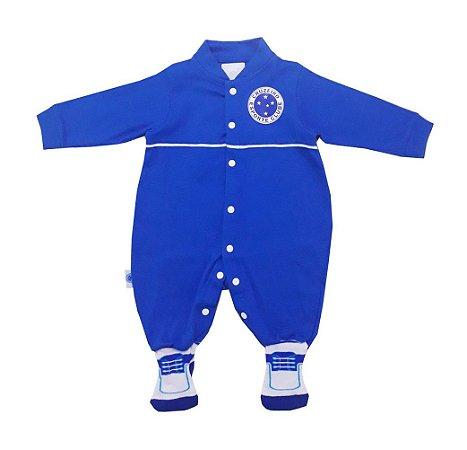 Macacão Bebê Cruzeiro Longo Chuteira Oficial
