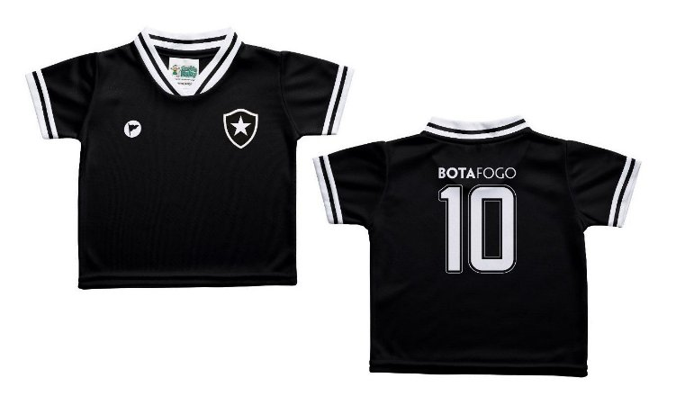 Camiseta Bebê Botafogo Preta - Torcida Baby