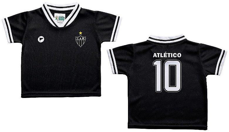 Camiseta Bebê Atlético MG Preta - Torcida Baby