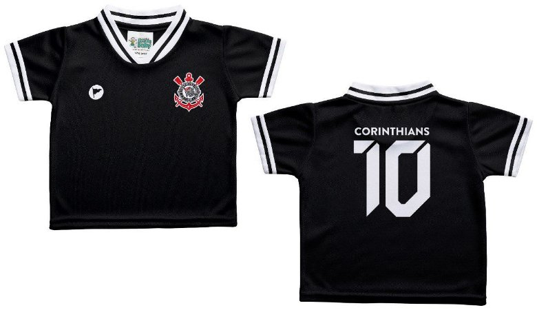cb07b29522a26 Camiseta Bebê Corinthians Preta - Torcida Baby - Cia Bebê ...
