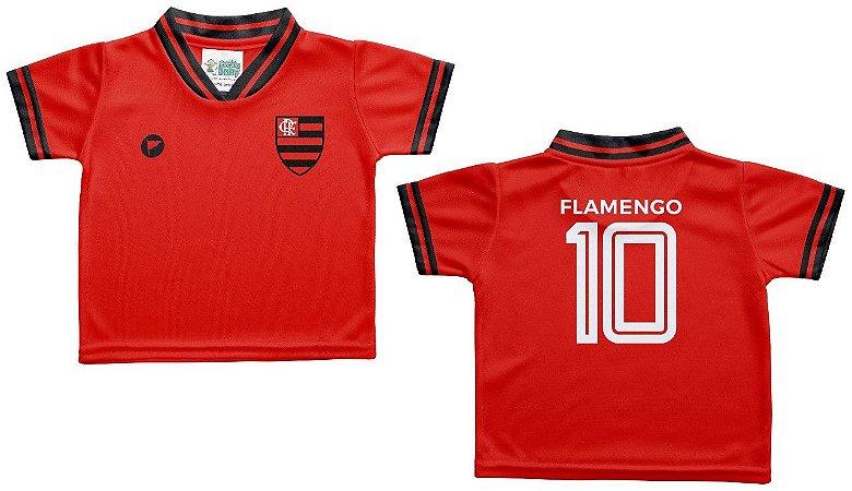 Camiseta Bebê Flamengo Vermelha - Torcida Baby