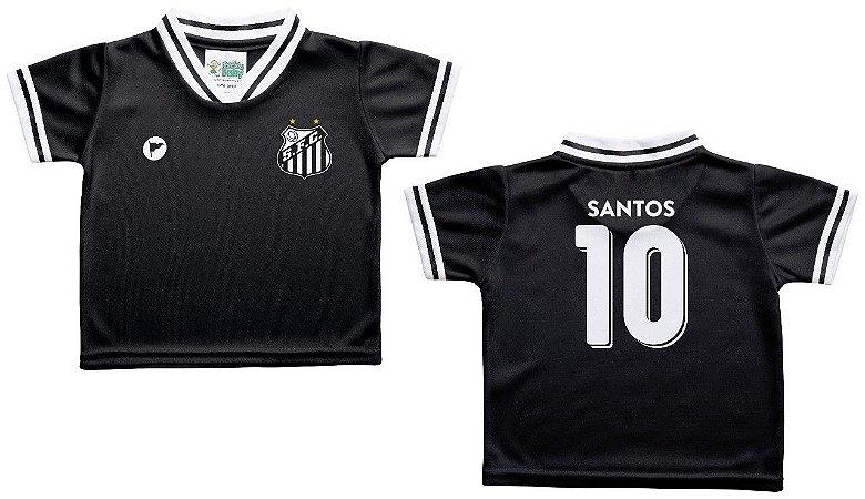 Camiseta Bebê Santos Preta - Torcida Baby - Cia Bebê  3bf2658914164