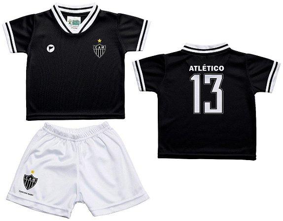 Conjunto Bebê Atlético MG Uniforme Preto - Torcida Baby