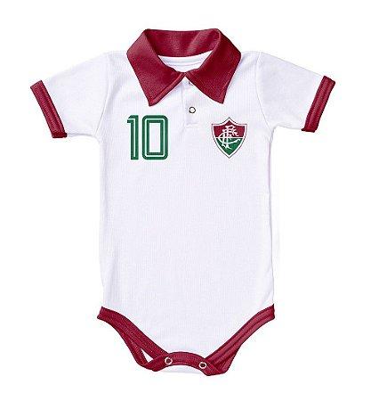 a8ab8e395c2c0 Body Fluminense Polo Branco Torcida Baby - Cia Bebê