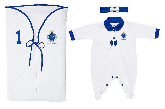 Kit Maternidade Cruzeiro Menina Branco - Torcida Baby