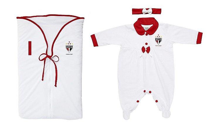 Kit Maternidade São Paulo Menina Branco - Torcida Baby - Cia Bebê ... c7b946fbc6c