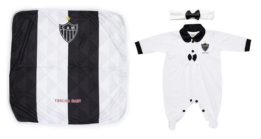 Kit Maternidade Atlético Mineiro Com Manta e Tiara - Torcida Baby