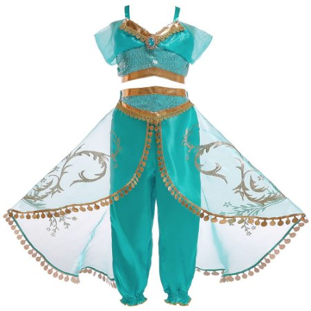 Fantasia Infantil Jasmine Aladdin