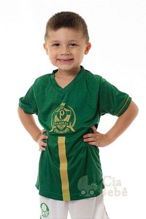44ce2bf9e3 Camiseta Infantil Palmeiras Dourada Oficial - Cia Bebê