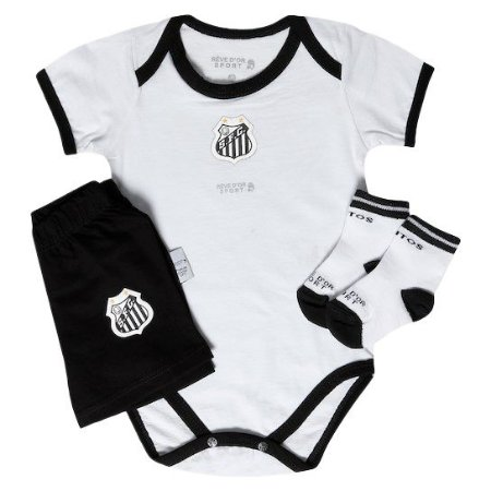 Kit Conjunto Santos Body Shorts e Meia Revedor
