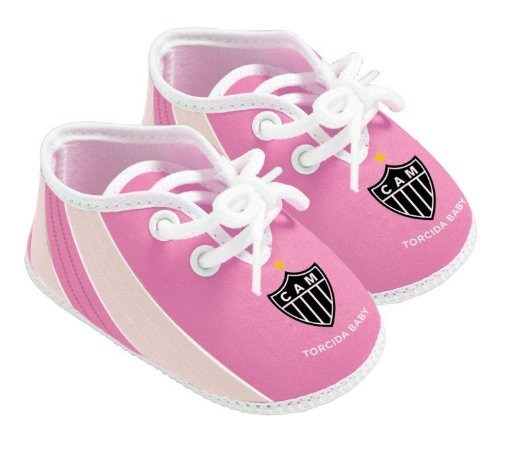 Chuteira Bebê Atlético MG Rosa Oficial - Torcida Baby
