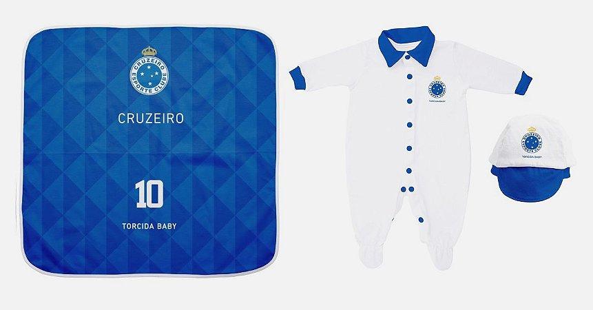148dd47a96c8e Kit Maternidade Cruzeiro Com Manta - Torcida Baby