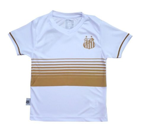 Camiseta Infantil Santos Estampa Dourada Oficial