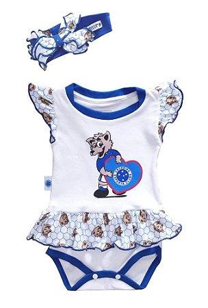 Body Vestido Cruzeiro Mascote Com Laço Oficial