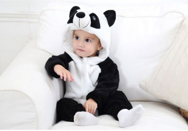 Macacão Bebê Panda Plush Luxo