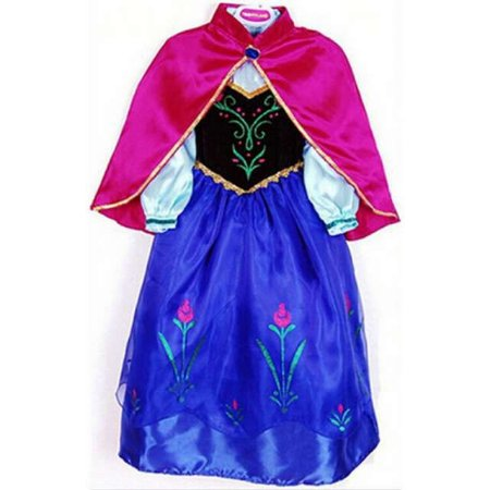 Vestido Fantasia Infantil Princesa Anna Frozen