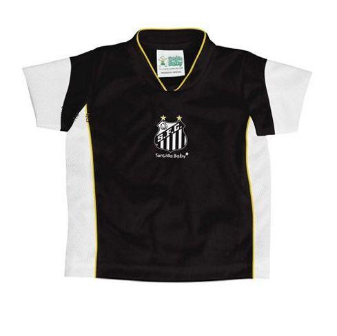Camiseta Santos Infantil Preta Futebol Mania