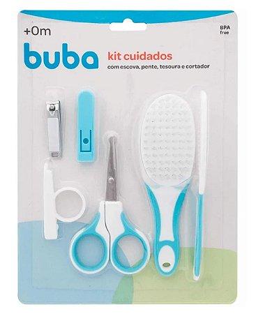 Kit Bebê Higiene Cuidados Azul Buba