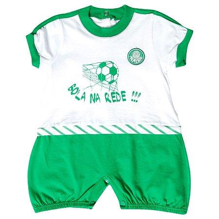 Macacão Bebê Palmeiras Curto Bola Na Rede Oficial