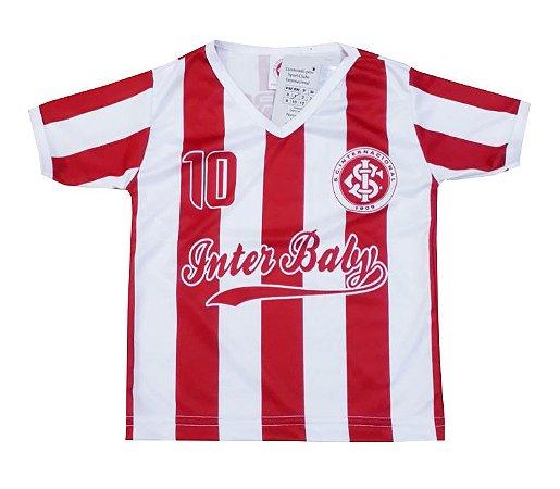 Camiseta Infantil Internacional Listrada Oficial