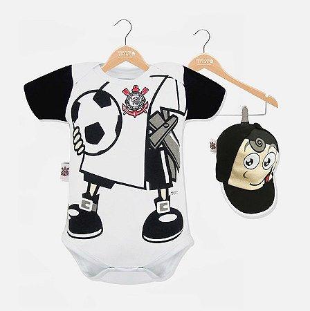 Body Corinthians Mascote com Boné Oficial