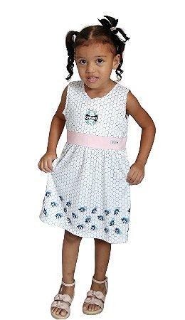 Vestido Bebê Infantil Grêmio Mascote Oficial