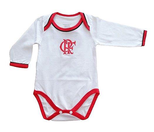 Body Bebê Flamengo Manga Longa Oficial