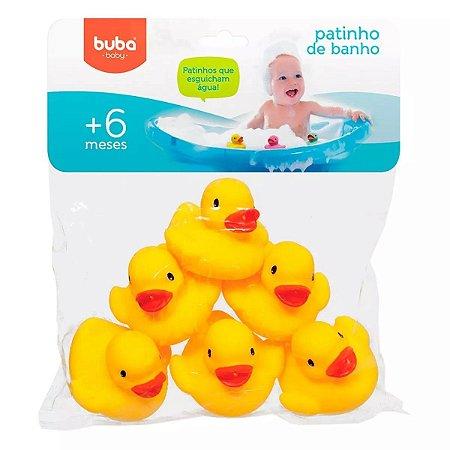 Patinhos de Banho Bebê Amarelo 6 Pçs Buba