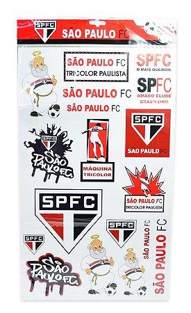 Cartela de Adesivos do São Paulo Oficial