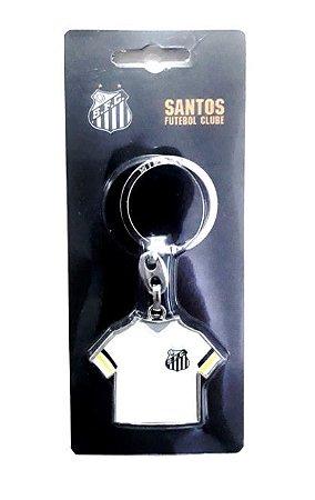 Chaveiro Santos Camiseta Branca Oficial