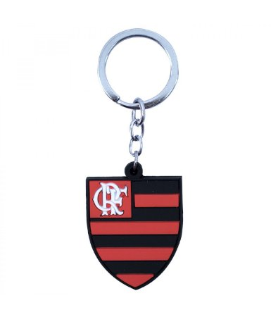 Chaveiro Borracha Flamengo com Brasão Oficial