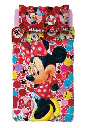 Colcha Dupla Face Infantil Minnie Lepper