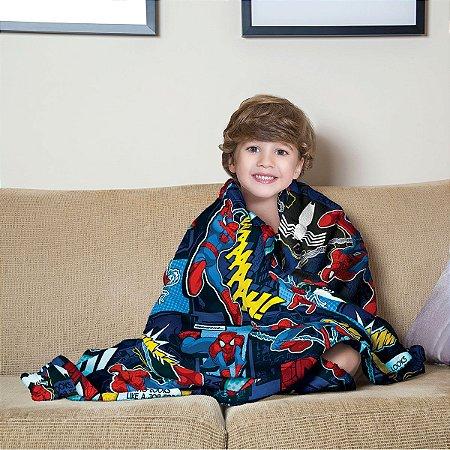 Mantinha Fleece Infantil Homem Aranha