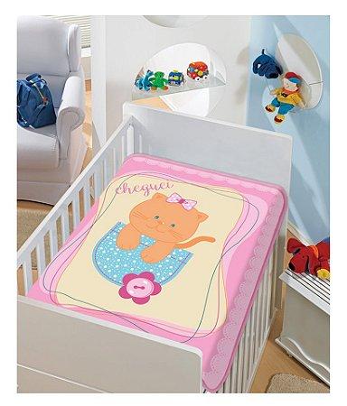 Cobertor Bebê Pink Gatinha 0,90 x 1,10m Jolitex