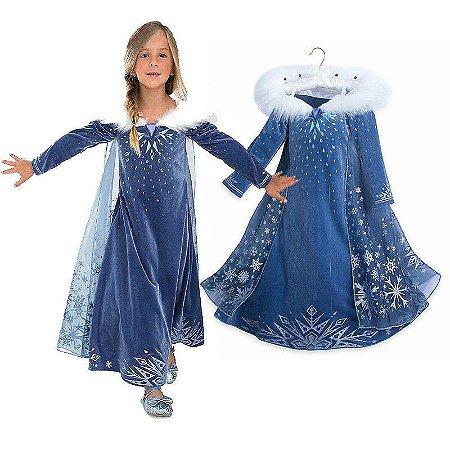 Vestido Fantasia Infantil Elsa Frozen Olaf's