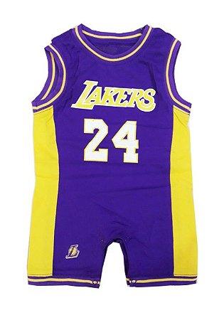 Macacão Basquete Bebê Lakers 2 Regata