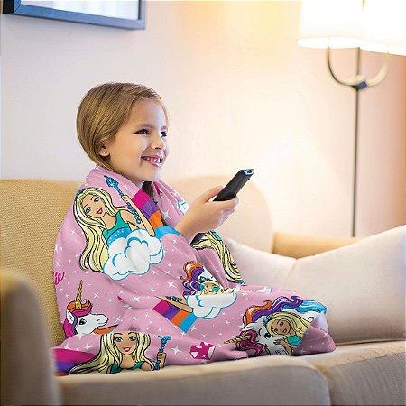 Mantinha Fleece Infantil Barbie Lepper