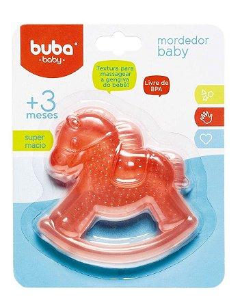 Mordedor Bebê com Água Cavalinho Vermelho Buba