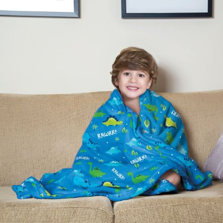 Mantinha Fleece Infantil Dino Lepper